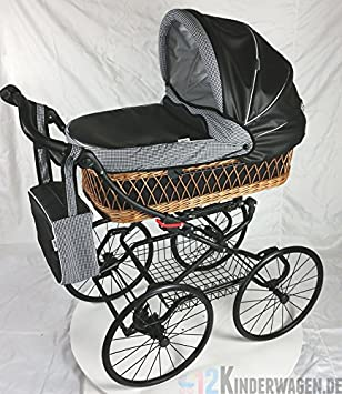 Lujo Retro cochecito bebé carro ratán Paris hihnqucker Incluye Buggy Uso: Amazon.es: Bebé