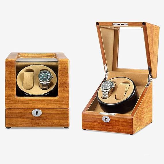 Caja Relojes Automaticos Correas de Reloj a Prueba de Polvo Caja de Cuero Reloj automático enrollador Simple enrollador [100% Hecho a Mano] (Color : B): Amazon.es: Relojes