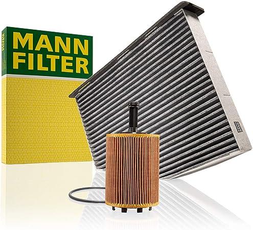 Original Mann Filter Set Aus 1x Innenraumfilter Cuk 2939 Und 1x Ölfilter Hu 719 7 X Für Pkw Mit Aktivkohle Pollenfilter Auto