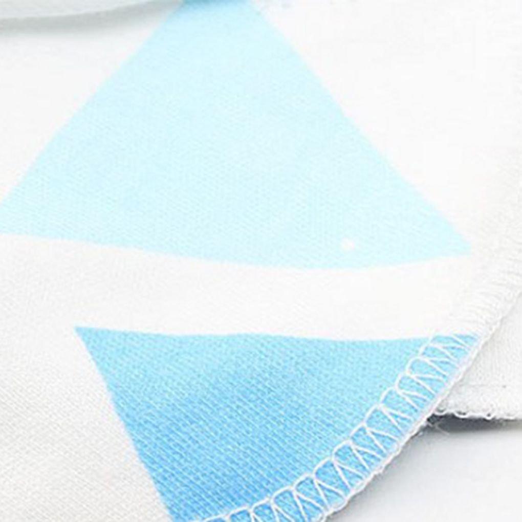 Meisijia 3 Paare Baby-Kind-weiche Baumwollhandschuhe Gummiband No Scratch Neugeborenes Kleinkind F/äustlinge hellblau