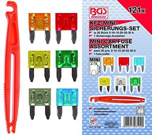 121-teilig BGS KFZ-Mini-Sicherungssortiment BGS-8109