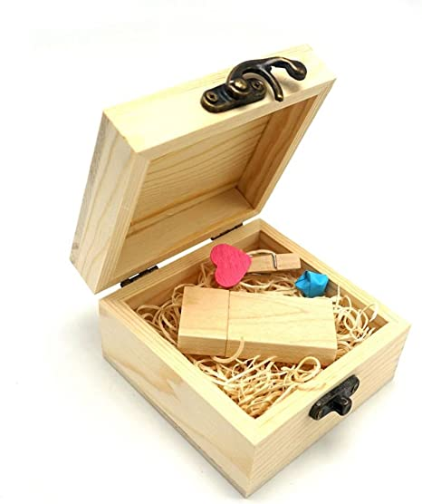 LUCKCRAZY - Memoria USB de madera, 16 GB, USB 2.0, con caja de regalo (16 GB, USB Flash): Amazon.es: Electrónica