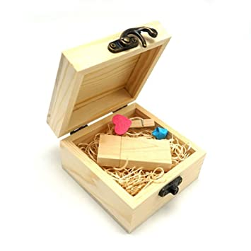 LUCKCRAZY - Memoria USB 2.0 para Pulgar Wooden USB Flash 16 GB