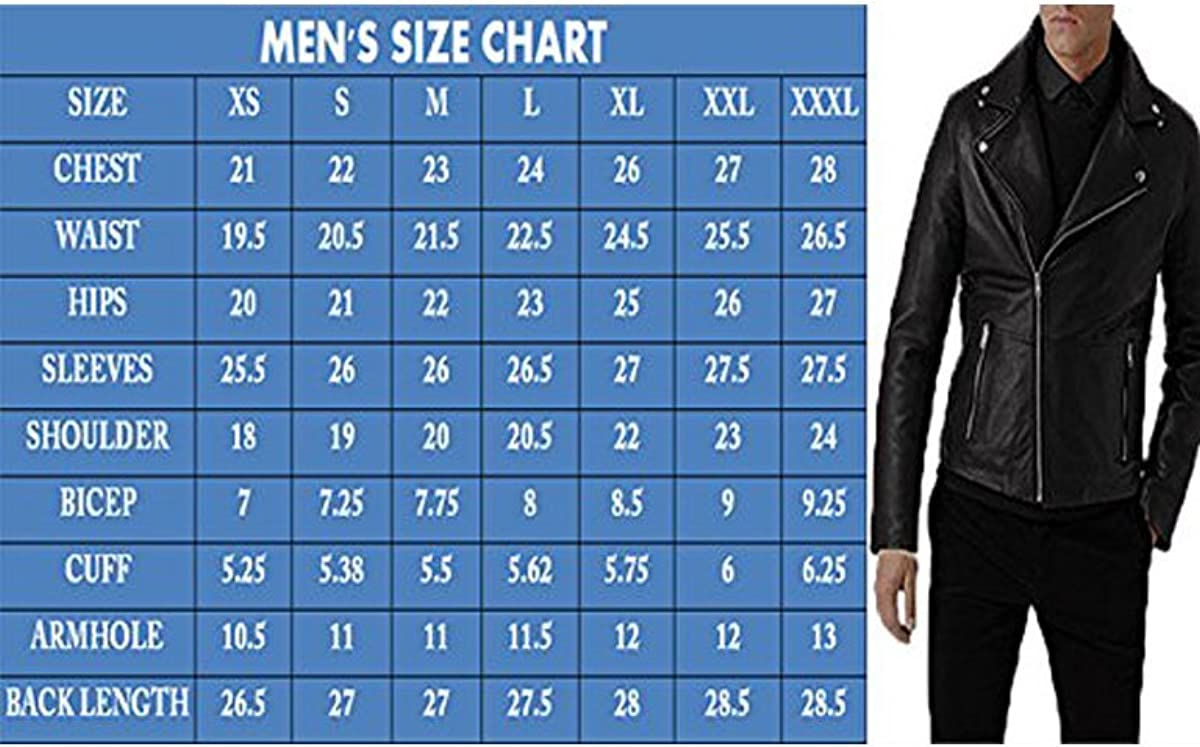 Mens Fashion Real Leather Lambskin Leather Biker Motorcycle Classic Jacket