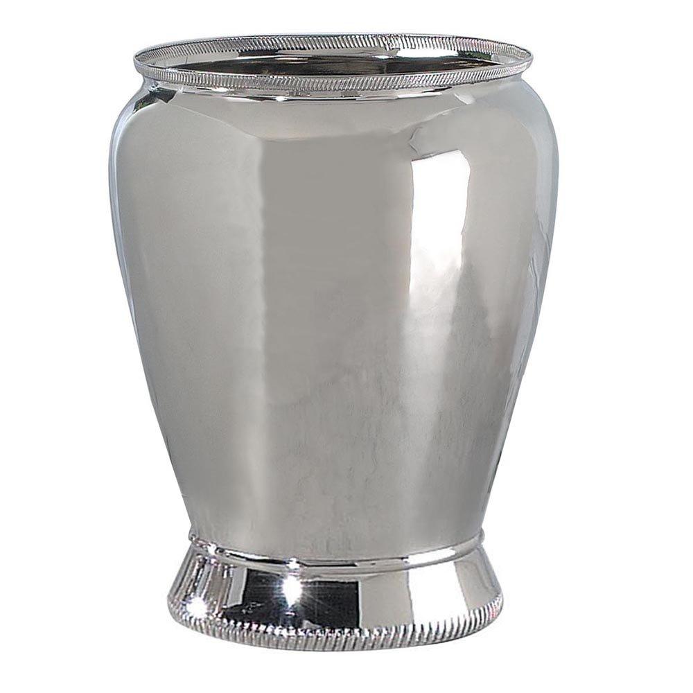 nu steel Wastebasket, Brass Polished Nickel