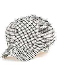 ililily 8-Panel Escocés/A Cuadros Estampado Newsboy Boina Inglesa Gorra Algodón Ivy Plano Cacería Sombrero/Gorra
