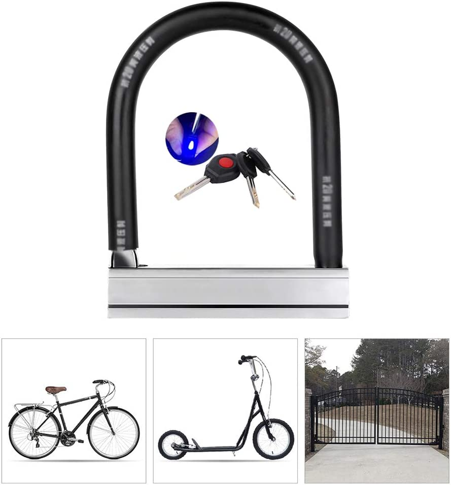 KuaiKeSport Candado en U Bicicleta,Cilindro de Bloqueo Clase B ...