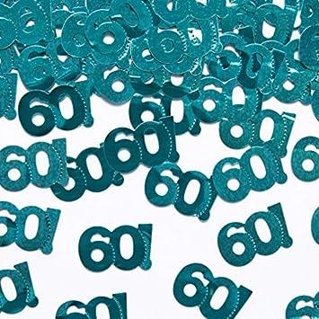 Streudeko Tischdeko 60 Geburtstag Jubilaum Blau Grun 60 Geburtstags