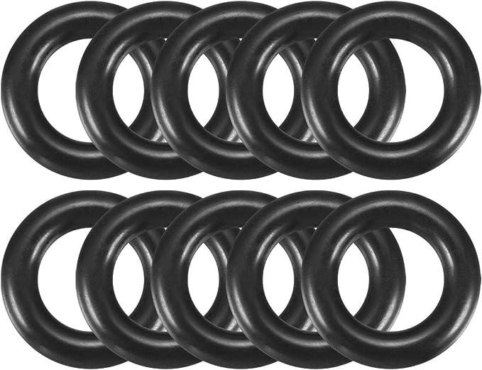 20mm x 14mm x 3mm Schwarz Gummi O-Ring /Öl Dichtung Dichtungsring de sourcingmap/® 10Stk