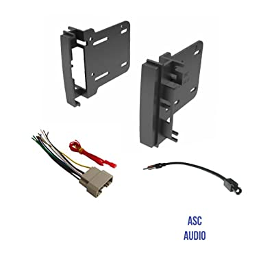 ASC Audio Car Stereo Radio Install Dash Kit, Wire Harness, and Antenna Adapter to Add a Double Din Radio for Some Chrysler Dodge Jeep- Vehicles Listed Below: Car Electronics
