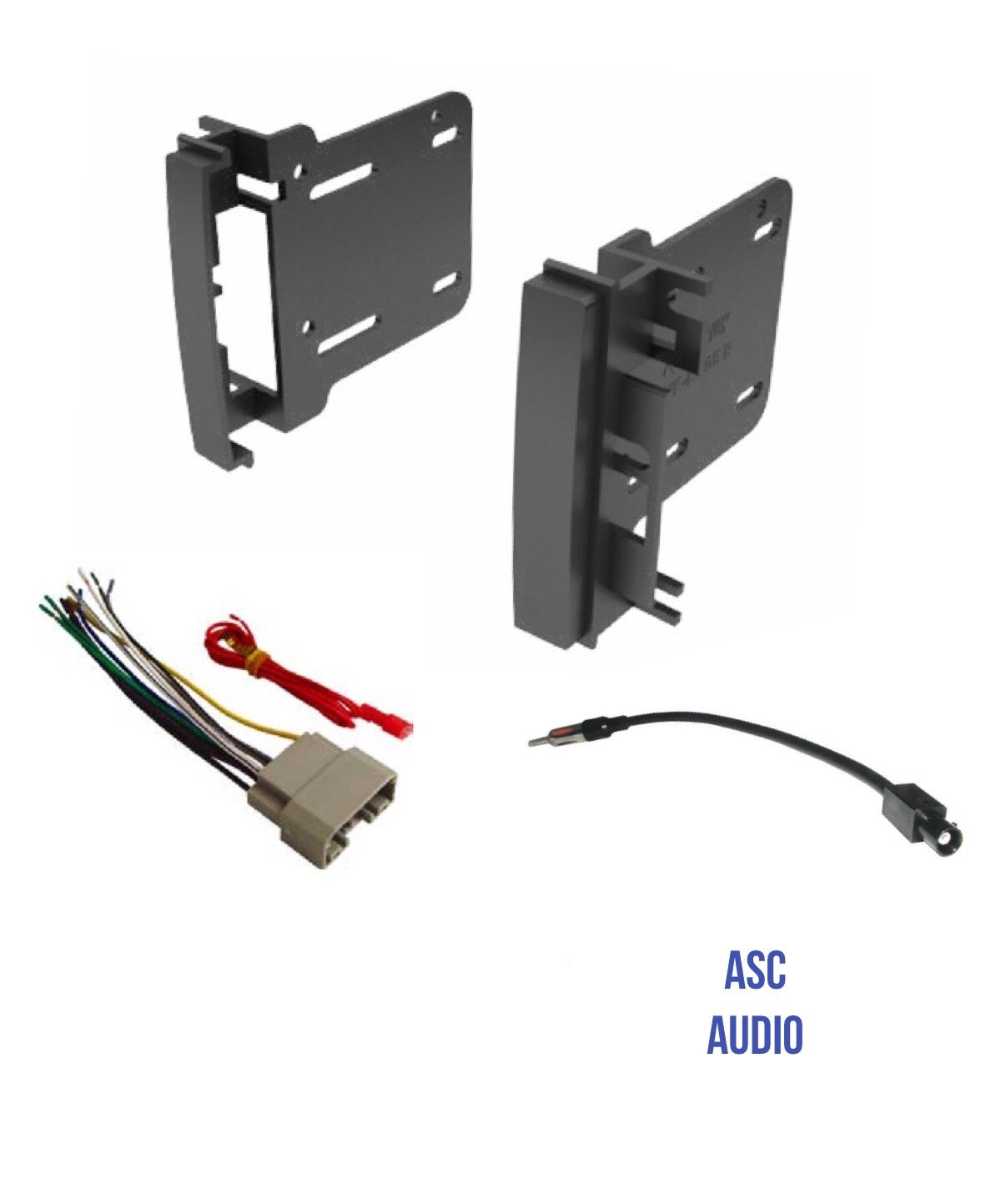 ASC Audio Car Stereo Radio Install Dash Kit, Wire Harness, and Antenna Adapter to Add a Double Din Radio for some 2007-2016 Chrysler Dodge Jeep- Vehicles listed below