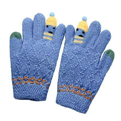 7c29c6c5e Amazon.com  Winter Baby Thicken Cartoon Warm Gloves - Pausseo Kids ...