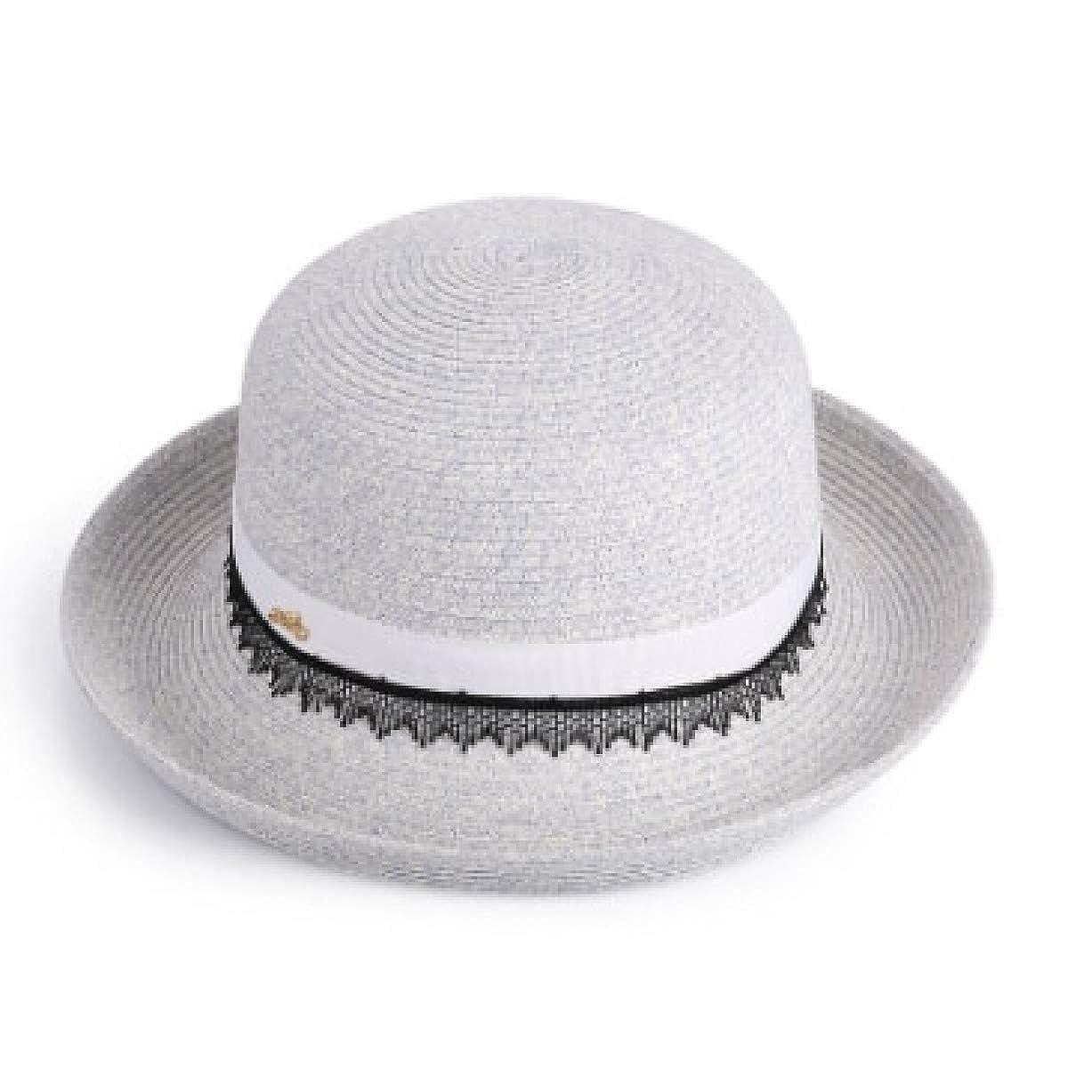 Ivory Mix bluee UNICOM91 Summer Hats for Women Feminino Lace Visors Cap Foldable Sun Hat Beach UV Predect Hat