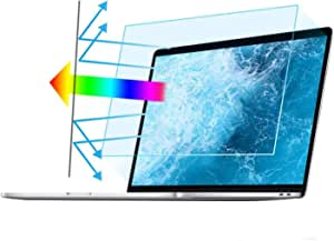"""2PC 15.6 in Anti Blue Light Laptop Screen Protector, Anti Glare Filter Film Eye Protection Blue Light Blocking Screen Protector for 15.6"""" Display 16:9"""