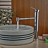Sukmw Deck Mounted Bathroom Basin Faucet Swivel Spout Kitchen Faucet Vessel Sink Mixer Tap Single Handle Hole