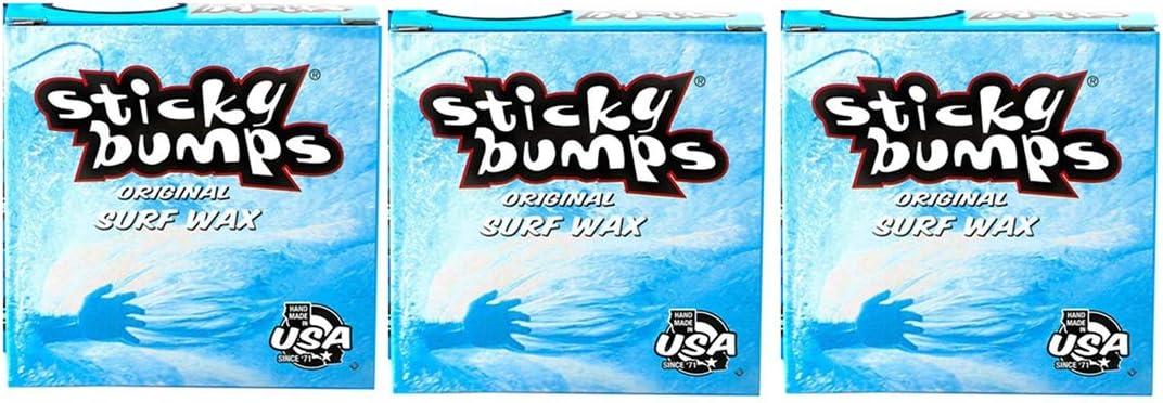 Sticky Bumps 7 inch Surf Wax Sticker Decal White