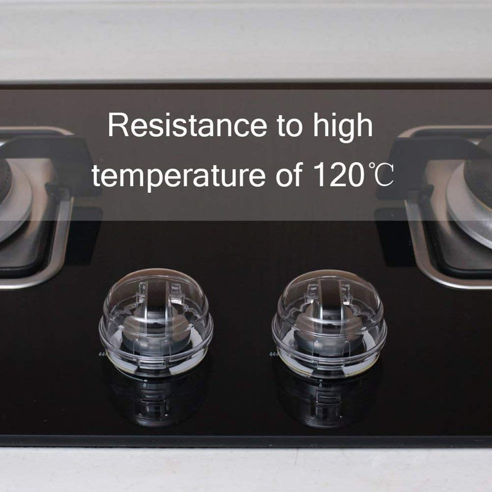 4Pcs Clear Stove Knob Covers Child Safety Guards Cooker Switch Cover Gas Shield Protection Locks for Children Safe