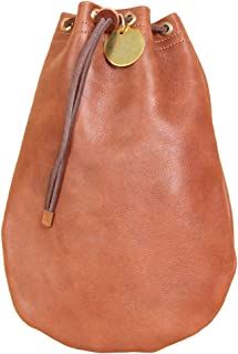 product image for Col. Littleton Full-Grain Leather Possibles Pouch   Made in USA   Large/Brown