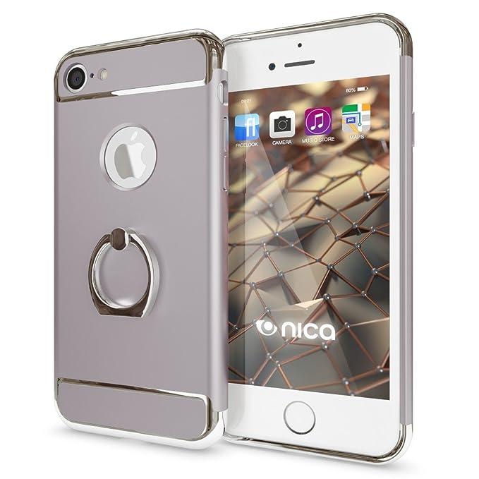 2 opinioni per NALIA Custodia con anello compatibile con iPhone 7, Ring-Case Rigida 360 Gradi