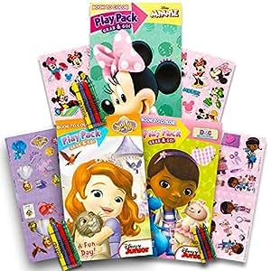 Disney Junior Girl's Grab 'N Go Play Packs Set of 3