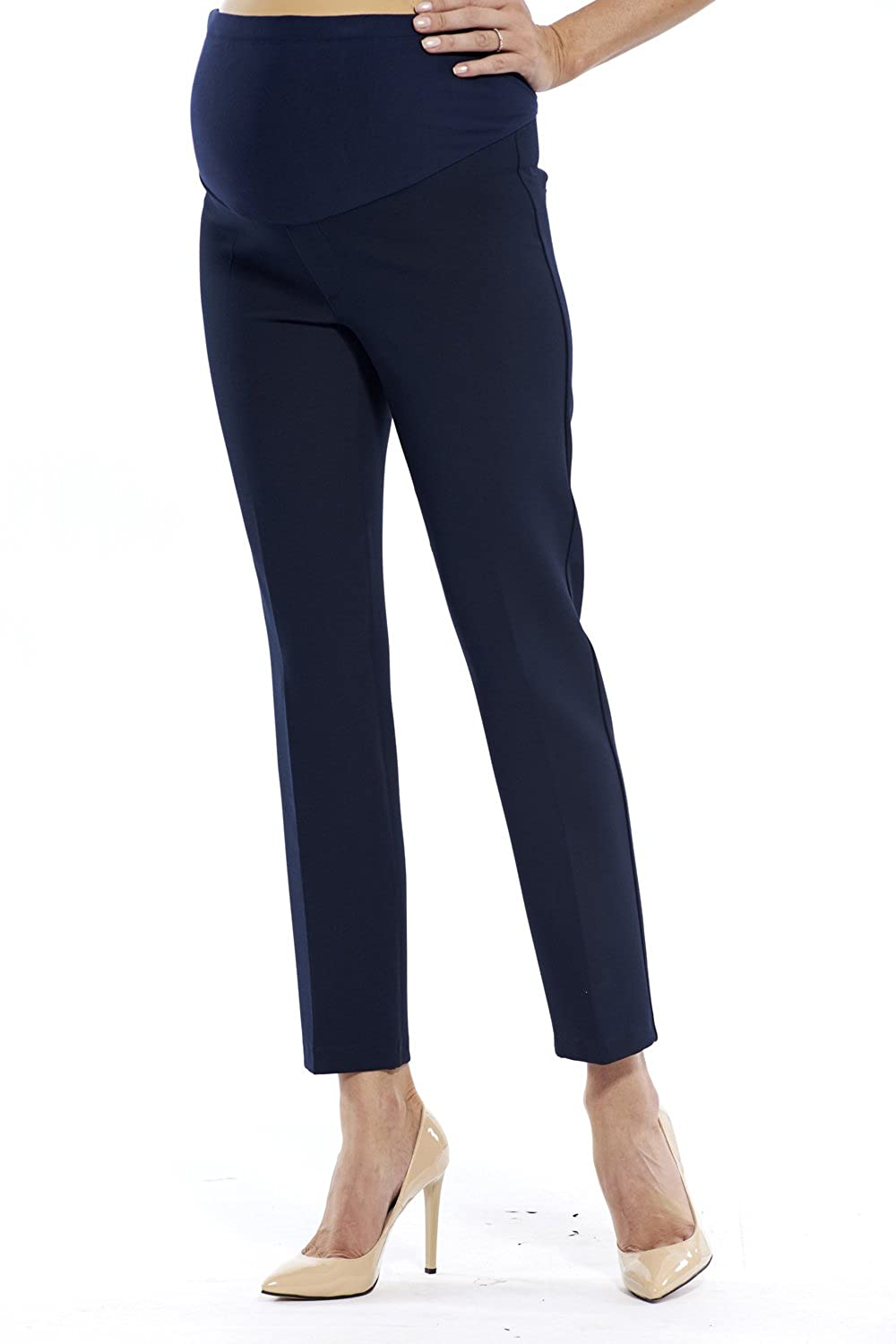 Motherway Women's Pleat-Front Maternity Trousers