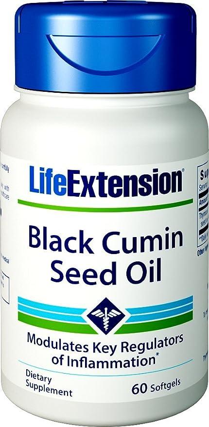 Negro semillas de comino aceite, 60 Cápsulas Blandas - Extensión de la Vida