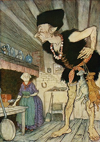 Fee fi fo fum I smell the blood of an Englisman Illustration from Jack and the Beanstalk from the book English Fairy Tales retold by FA Steel with illustrations by Arthur Rackham published 1927 Poste (Fee Fi Fo Fum Jack And The Beanstalk)
