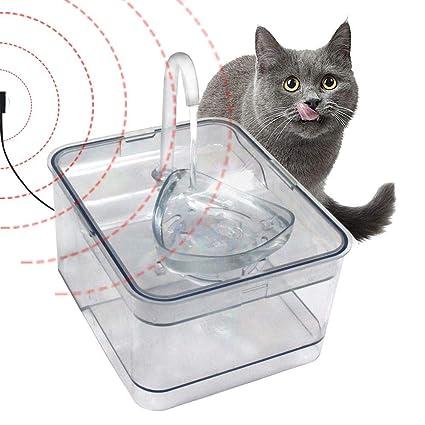 Braylon Bebedero Fuente Fuente de Agua para Gatos Beber Fuente para Gatos Perro Dispensador de Agua 2.6L con la Bomba silenciosa Fuente de Agua para Perros ...
