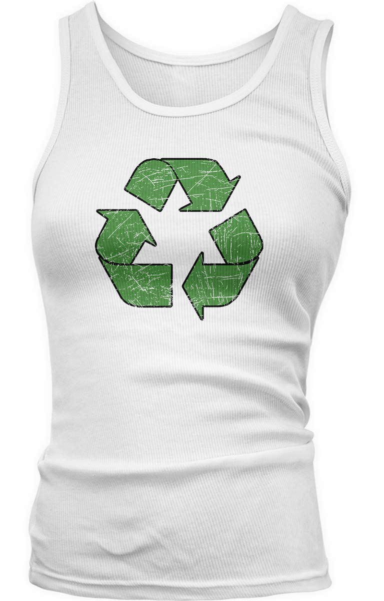 Distressed Recycle Symbol Tank Top 5005 Shirts