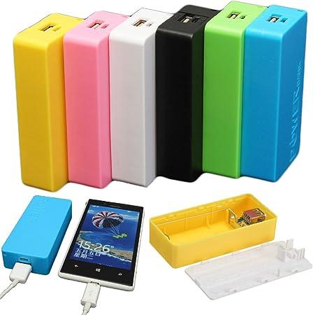 EsportsMJJ 5600mAh 2 X 18650 USB Power Bank Batería Cargador DIY Caso Caja para iPhone Sumsang-Negro: Amazon.es: Hogar