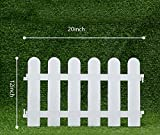 V Protek 4Pack Garden Patio Plants Decorative Landscape Palstic Edging Fence White Flexible Round 20''12''