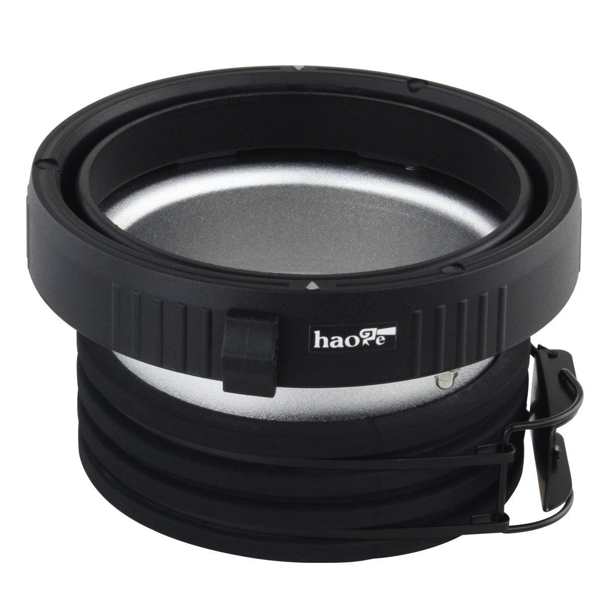 Haoge Profoto to Elinchrom Mount Speedring Ring Adapter Converter for Studio Light Strobe Flash Monolight by Haoge