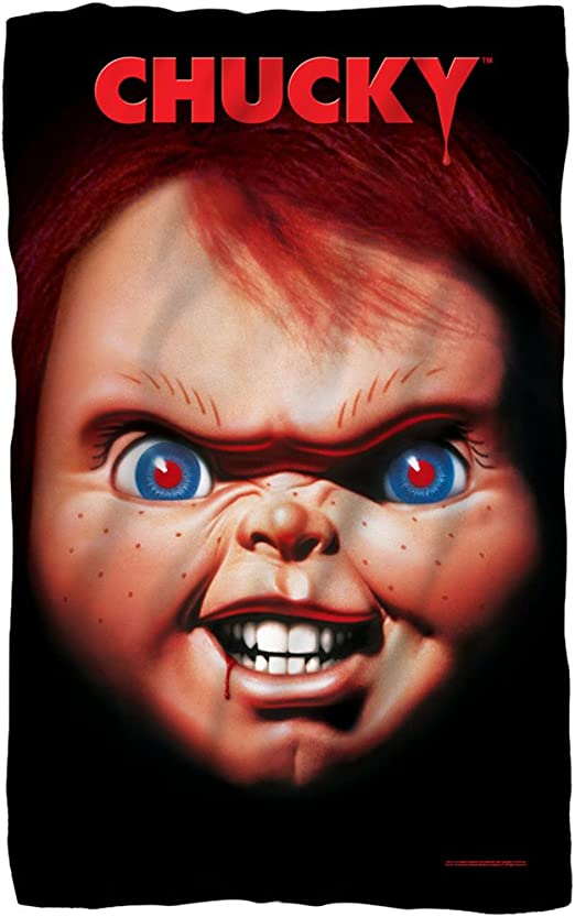 50 x 60 inches Silver Buffalo CK0527 Universal Chucky Wanna Play Raschel Throw
