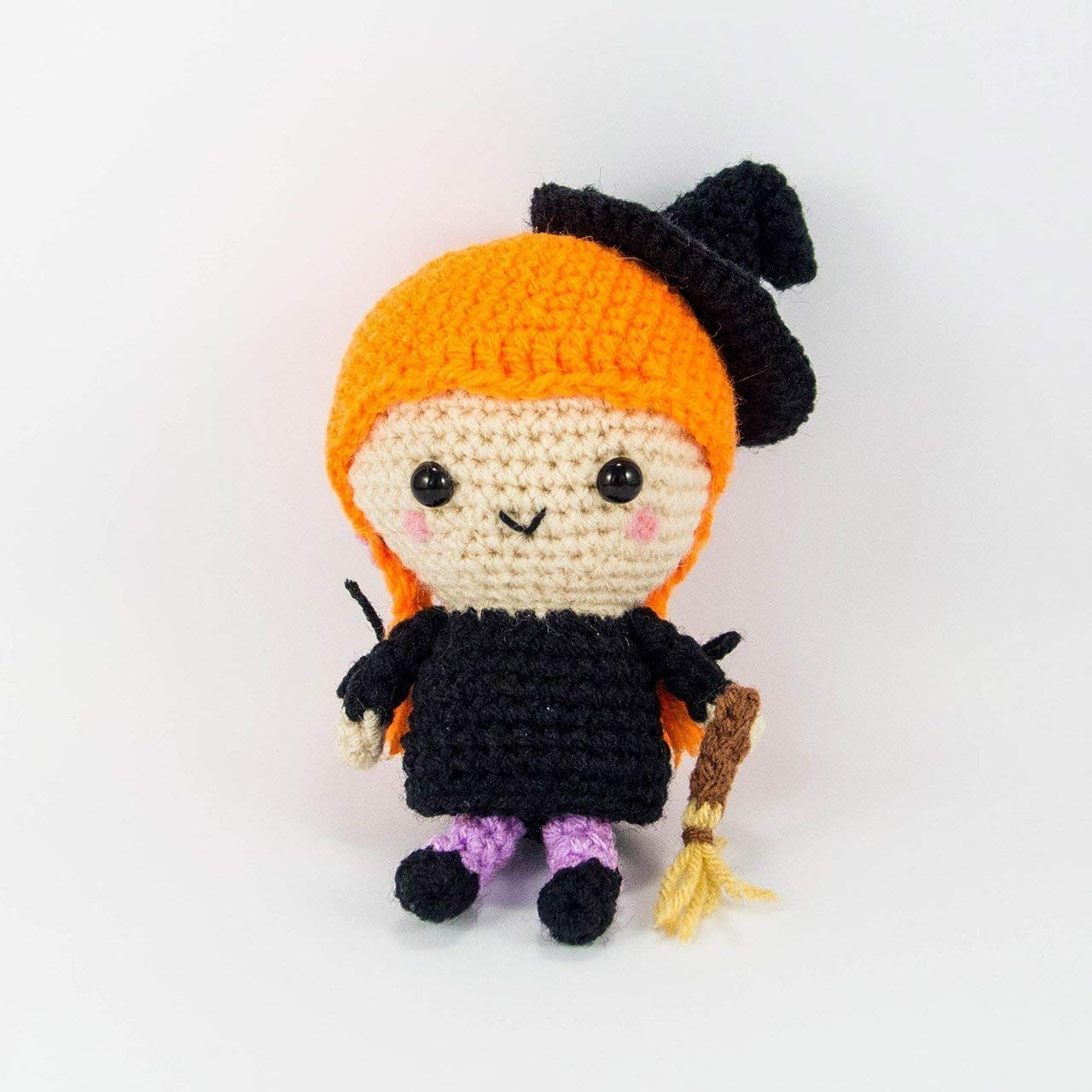 Halloween Black Cat Crochet Pattern, Crochet Witch Cat, PDF (Read ... | 1280x1280