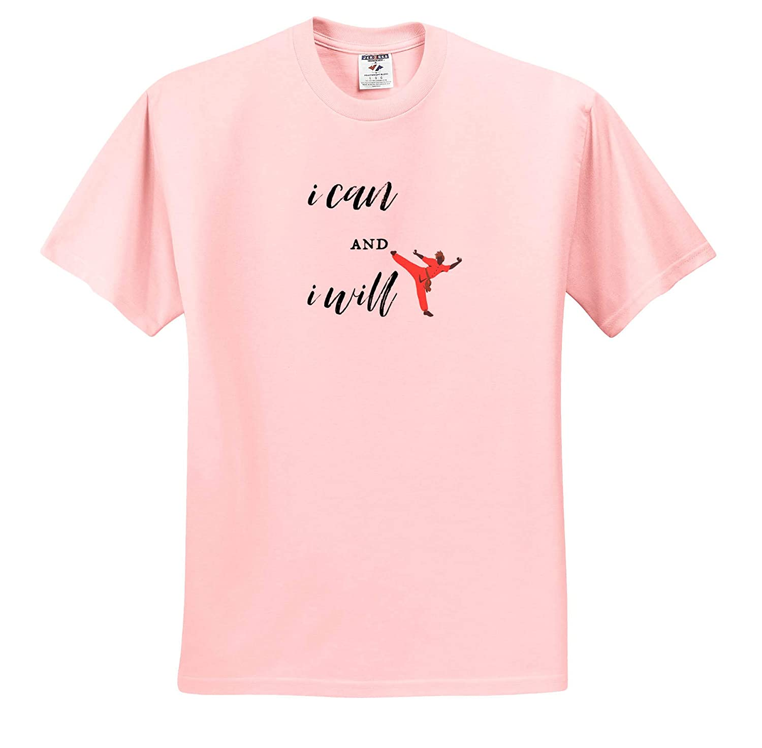 - Quote Image of I Can and I Will Adult T-Shirt XL 3dRose Nicole R ts/_311342
