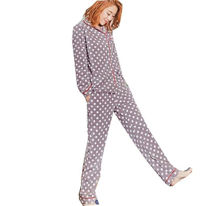 Bata Pijama De Señoras Bata De Baño Bata Pijama Suave Pijama Manga Larga De Punto De Onda Pijama De Verano: Amazon.es: Ropa y accesorios