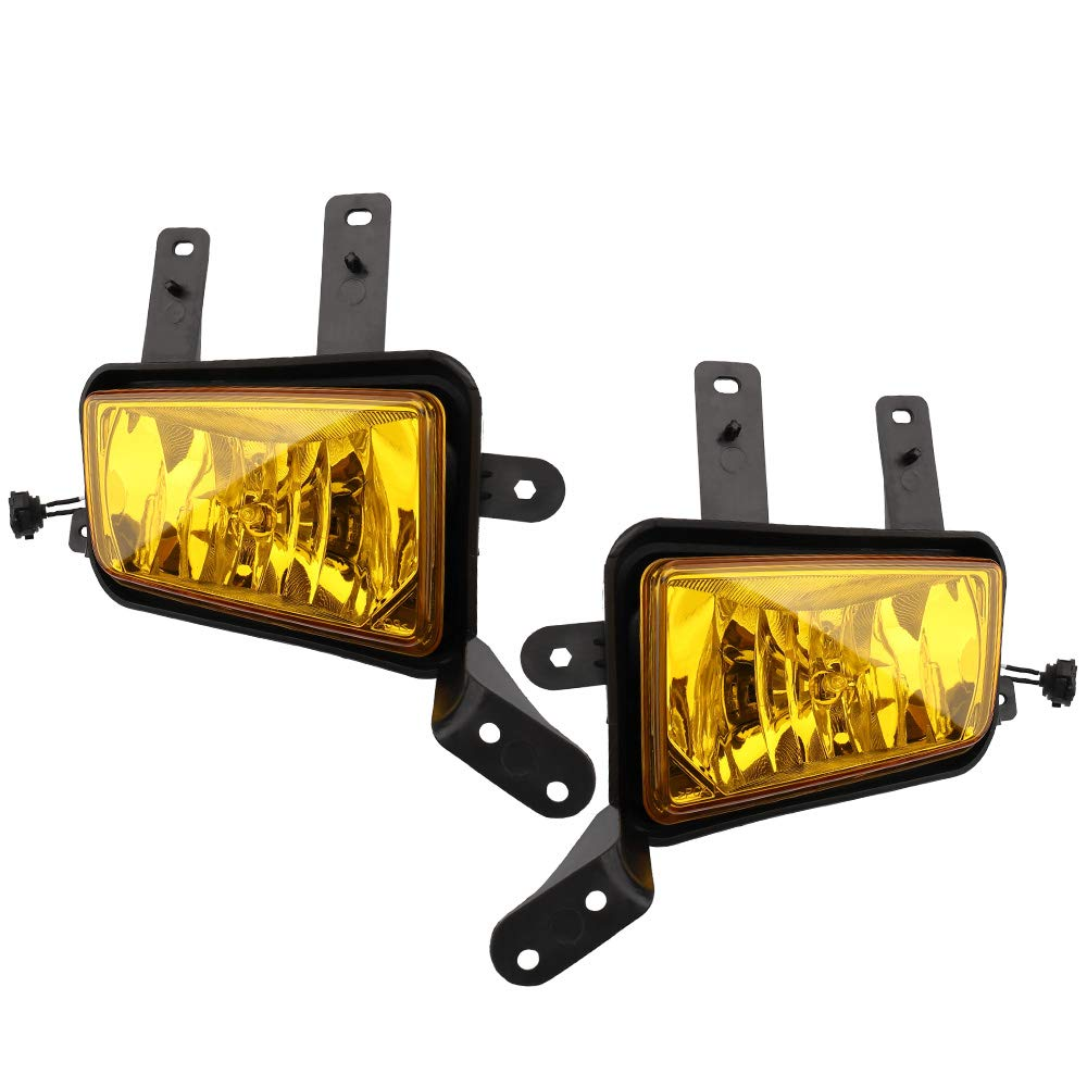 BRTEC Fog Lights Halogen Lamp Replacement for 15-17 Chevy Tahoe 2015 2016 2017 Chevy Suburban 15-17 GMC Yukon 15-17 GMC Yukon XL Set Driver Side and Passager Side Amber lights GM2592311 GM2593311
