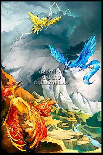 "Price comparison product image CGC Huge Poster - Pokemon Legendary Birds Nintendo Game Boy Color Advance DS 3DS GLOSSY FINISH - OTH574 (24"" x 36"" (61cm x 91.5cm))"