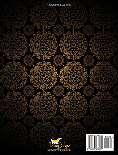 Sweary Mandalas: Midnight Edition: A Swear Word Mandala Coloring Book With Funny Curse Words On Dramatic Black Background Paper (Humorous Swear Words Coloring Books For Grown-Ups)