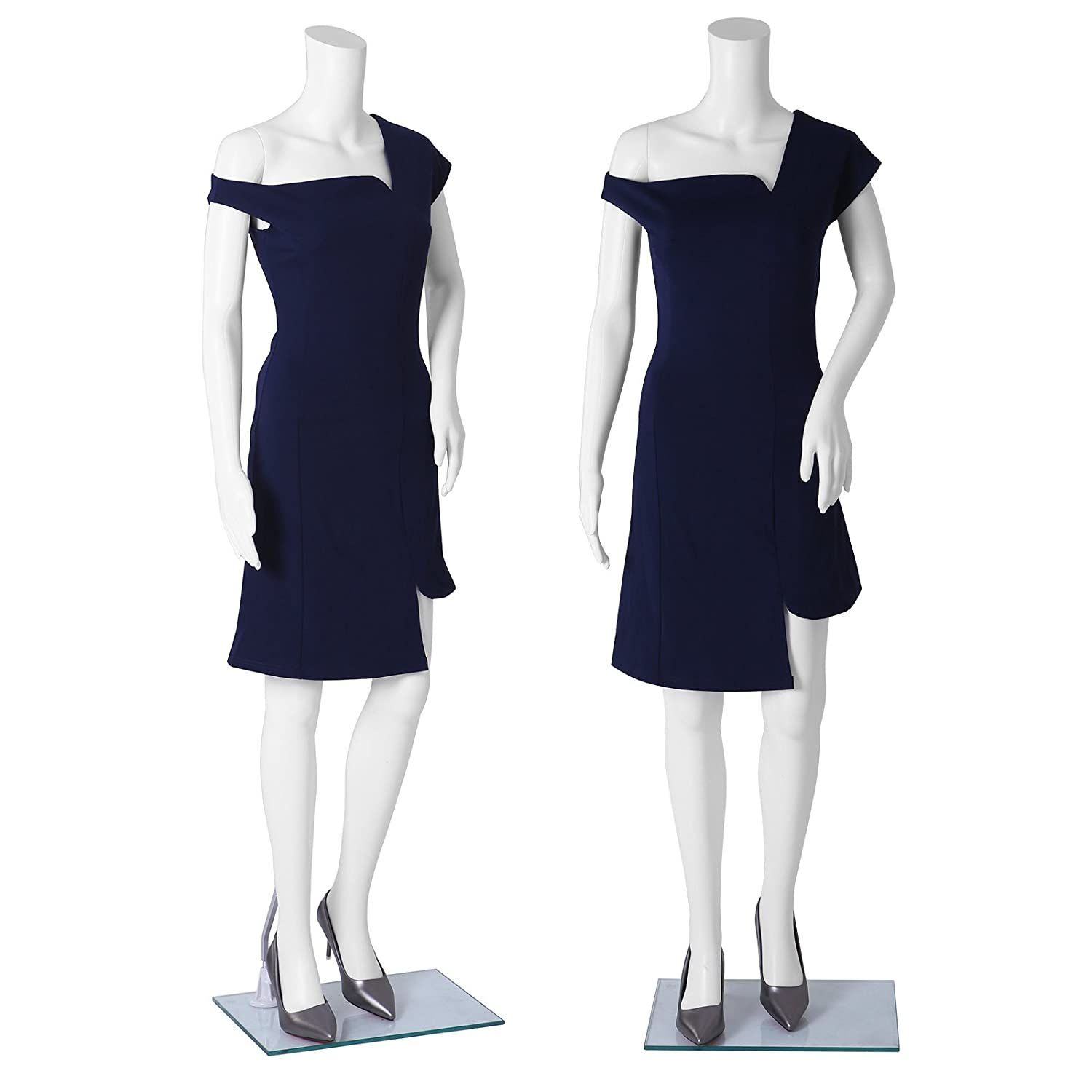 e84958f12 SONGMICS Female Mannequin Full Body without Head Dummy Realistic Adjustable  Manikin for Windowshop Display Dressmaker PE Plastic White MPLM21   Amazon.co.uk  ...