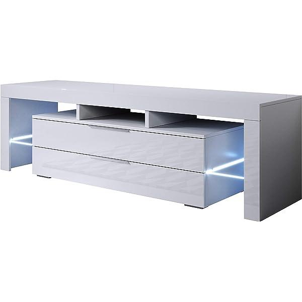 muebles bonitos - Mueble TV Modelo Selma (160x53cm) Color Blanco ...