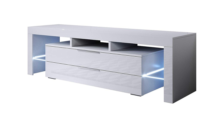 Colore Bianco con LED RGB muebles bonitos Mobile TV Modello Selma 160x53cm