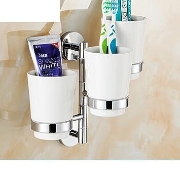 Toda la taza del cepillo de dientes de cobre/enjuague bucal de cristal/ actividades tazas/Multi-función de soporte de vaso cepillo de dientes plegable-B: ...