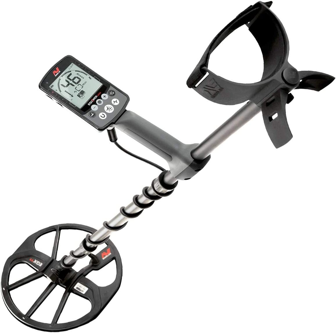 Minelab Equinox 600 Metal Detector Bundle with 6 Equinox 06 Double-D Waterproof