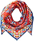 Echo Women's Fight of Fancy Silk Square Scarf, Hibiscus, One Size