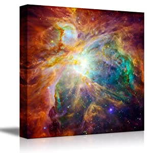 """Canvas Wall Art The Cosmic Cloud Orion Nebula 1,500 Light-Years Away from Earth Beautiful Universe/Outer Space Home Decoration Stretched Gallery Canvas Wrap Giclee Print & Ready to Hang - 24"""" x 24"""""""