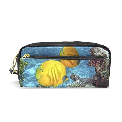 Ahomy Reef - Estuche para lápices de peces con cremallera ...