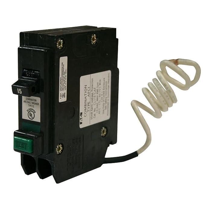 Eaton CL115CAF Plug-In Mount Type CL Arc Fault Circuit Breaker 1-Pole 15 Amp 120/240 Volt AC