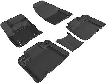 Amazon Com 3d Maxpider L1fr09301509 Ford Edge 2015 2020 Custom Fit All Weather Car Floor Mats Liners Kagu Series 1st 2nd Row Black Automotive