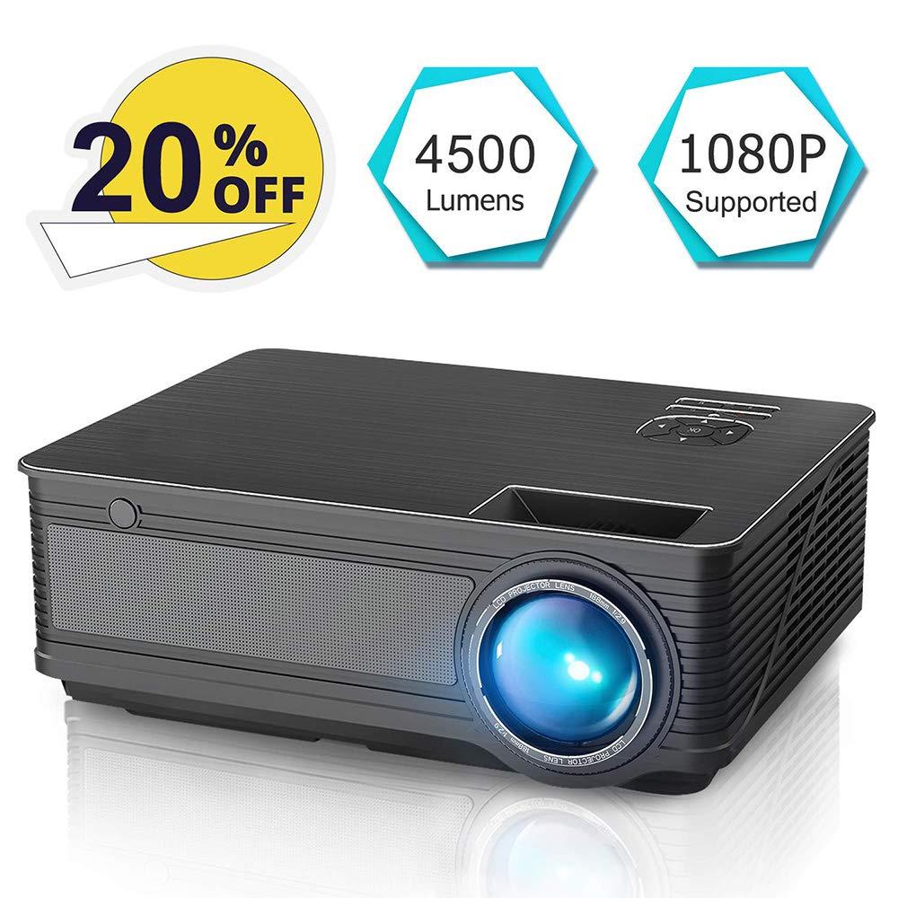 Proyector de 4500 lúmenes con Soporte Full HD 1080P Proyector de ...